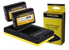 2 x Patona Akku + Dual-, Doppel-Ladegerät Sony ILCE-6500, Alpha 6500 - NP-FW50