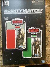 NOT MINT Star Wars Black Series BOUNTY HUNTERS 40th Anniversary 4-LOM & ZUCKUSS