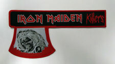 "LARGE IRON MAIDEN KILLERS AXE WOVEN PATCH - 7.9"" - NWOBHM Eddie"