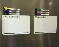 2x A5 Slotted Magnet Whiteboard Family Fridge Reminder Memo Notepad Message 2pen