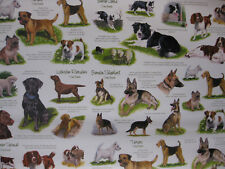 DOGS GIFT WRAP WRAPPING PAPER COLLIE LABRADOR SPANIEL TERRIER GERMAN SHEPHERD