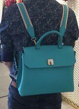 100% Authentic MCM Milla large leather handbag backpack Convertible Satchel