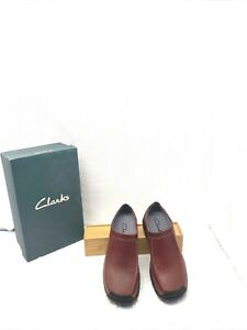 CLARK'S WOMEN'S LEATHER CLOG SLIP-ON RUBBER SOLE VENUS 38218 SZ 9 IN BOX