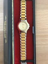 ADEC VINTAGE WOMEN'S WATCH Gold stainless steel finish silver back