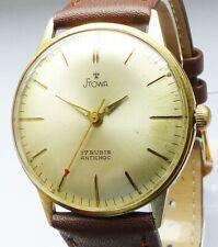 Schöne Stowa Bauhaus 17Jewels Herren Vintage Armbanduhr 60er Jahre