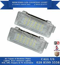 2x MERCEDES W166 C207 A207 LED 18 SMD COURTESY LIGHT CANBUS ERROR FREE