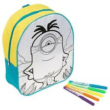 DESPICABLE ME MINIONS COLOUR YOUR OWN BACKPACK + MARKERS EXCLUSIVE GIFT TOY