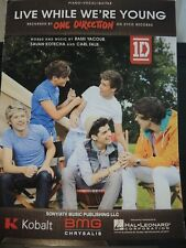Live While We're Young - One Direction - 2012 Original Sheet Music