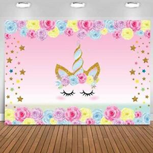 Fondo telon de unicornio para cumpleaños infantiles decoracion party kids backdr