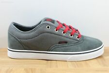 Vans AV Era 1.5 Charcoal Grey Red Men's Classic Skate Shoes SIZE 7.5