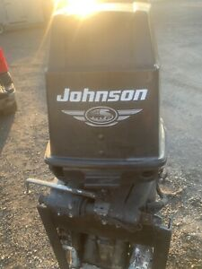 70 HP Johnson complete outboard motor runs great 2001 great compression