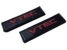 Vtec Black Carbon Fiber Seat Belt Shoulder Pads/Cover 2 Pieces Jdm Honda Acura