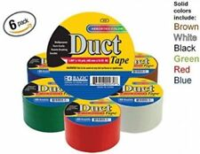 6 Roll Set Bazic 1.89 X 10 Yard Colored Duct Tape Multipurpose Durable Brand New