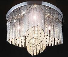 35cm cristal plafonnier LED lustre eclairage plafond suspension cristaux séjour
