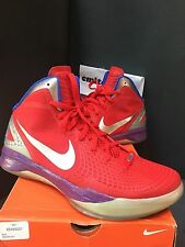 Nike Hyperdunk Red Blue Zoom 2011 Sz 12 Blake Griffin