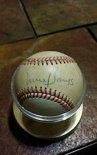 Ernie Banks Signed Charles Feeney National League Baseball HOF  Cubs Autographed