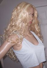 BLONDE full cap wig! X Long Length, Very Curly. Soft and Full. Flyaway Hair. NEW
