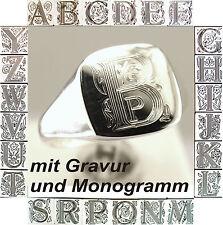 Seal Ring, Ladies Ring, Men's Ring, Unisex Ring With Monogram And Engraving