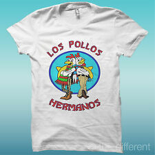 "T-SHIRT UOMO "" LOS POLLOS HERMANOS BREAKING BAD "" IDEA REGALO ROAD TO HAPPINESS"
