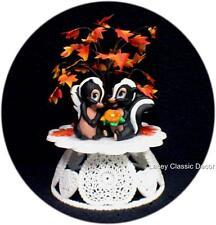 Wedding Cake Topper Flower the Skunk Disney Bambi top Fall tree