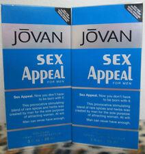 JOVAN SEX APPEAL MUSK COMBO 2 TWO BOTTLES 3.0 OZ 88 ML COLOGNE SPRAY NIP FOR MEN