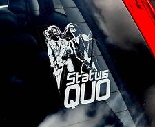 Status Quo - Car Window Sticker - UK English Rock Band Sign Art Gift