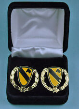 1st Cavalry Division Army Wreath Cuff Links in Presentation Gift Box Cufflinks