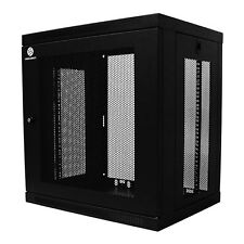 9U Wall Mount Network Server Data Cabinet Enclosure Rack Equipment Door Lock