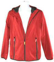 Champion Mens Youth Jacket Hooded Lightweight Windbreaker Red Size XL (16-18)