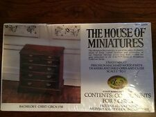 1/12 Bachelor'S Chest Kit #40054 House Of Miniatures Open Complete