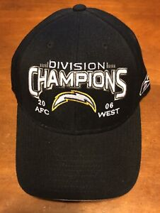 San Diego Chargers 2006 AFC NFL West Division Champions Snapback Hat Reebok NWT