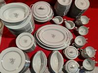 NORITAKE SHIRLEY 157 PC's.PATTERN # 5774  See description for amazing set