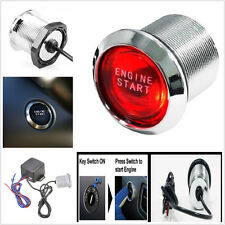 Red LED Light Keyless Engine Ignition start/ stop buttons Starter Power Switch
