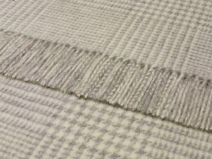 100% pure lambswool Bronte sofa throw blanket rug CROFT HOUNDSTOOTH  - T0101/D03