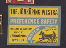 Ancienne  étiquette de paquet  allumettes  BN49063 Course de chevaux trotteur