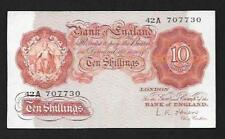 1955 - OBRIEN  10/- Ten Shilling REPLACEMENT Note - 42A - UNC - B272 - SN9137