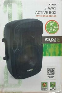IBIZA party speaker 2 Way Active Box With Bass Reflex  XTK8A