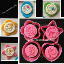 Hello Kitty & My Melody cookie cutter w/ stamp 8 pcs set Cortadores Hello Kitty