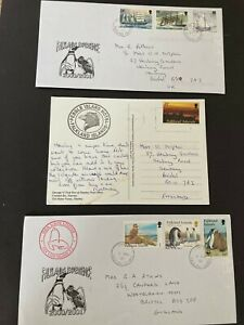 Postal History Falklands Selection of 10 Covers - Penguins, FPOs & Airfield!