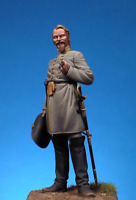 Confederate officer at American Civil War 54mm Tin Painted Toy Soldier   Art