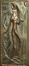 VINTAGE BRASS WALL DECOR PLAQUE WOMAN