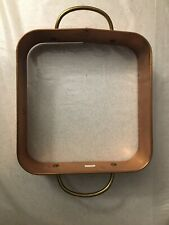 Vintage 9x9 Copper Open Cake Mousse Mold Baking Square Form Ring