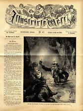 Die Mine von St.Gurlott (47) Roman Dekoratives Holzschnitt - Titelblatt von 1876