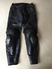 Dainese Vintage? Black Leather Padded Biker Trousers Size 54