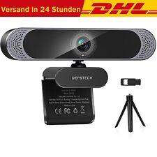 DEPSTECH Webcam mit Mikrofon 4K QHD Automatische Lichtkorrektur USB Webkamera