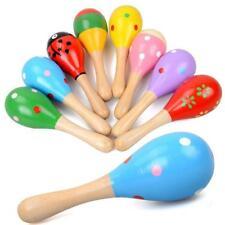 Bunte Hölzerne Maracas Baby Kind Musikinstrument Rassel Shaker Party Spielzeug