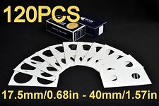 120PCS 12 SIZES 2x2 ASSORTED CARDBOARD MYLAR COIN HOLDERS. FLIPS FREE SHIPPING!!