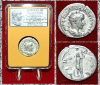 ANCIENT ROMAN COIN GORDIAN III Virtus on Reverse Silver Antoninianus