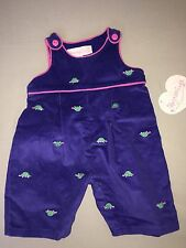 NEW HARTSTRINGS OVERALLS 3 6 MONTHS GIRLS PURPLE PINK TURTLES MSRP $38