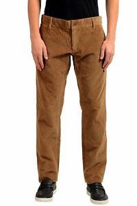 Dolce & Gabbana Homme Marron Velours Pantalon Décontracté Taille 28 30 32 34 38